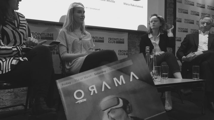 ORAMA Immersive Storytelling Film Festival was held at the Frontline Club in London March 31 and April 1.
