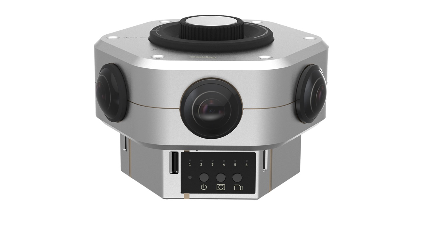The Pioneer Edition of the Obsidian VR camera has a slightly different appearance than the final camera design, shown above.