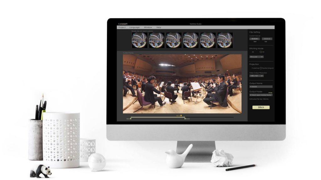 Kandao Studio, Obsidian's companion software, offers one-click processing, ambisonic surround sound support, and GPU acceleration to speed up workflow.