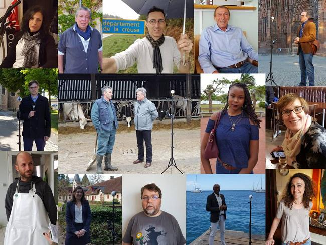 The series profiled nine voters with different backgrounds, leading up to the French election. Credit: Olivier Peguy