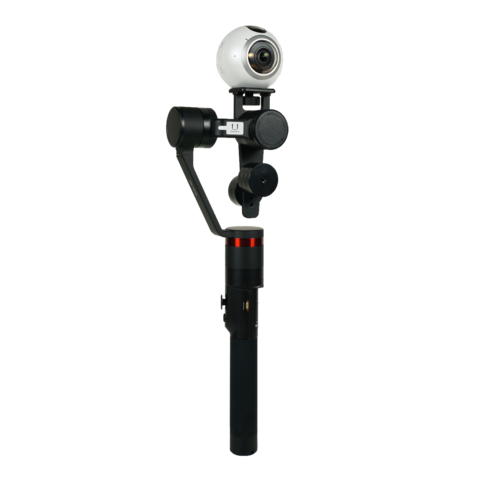 The Guru 360 camera stabilizer offers a narrower form factor than existing gimbals to minimize how much of the gimbal your audience sees in any 360 shot.
