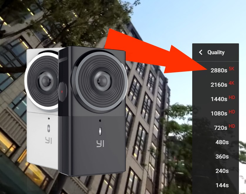 The Yi 360 camera was announced at NAB 2017 and can shoot 5.7K 360 video.