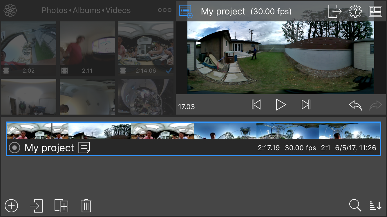 Pass the Mic: LumaFusion 360 video editing on iOS, Virb 360