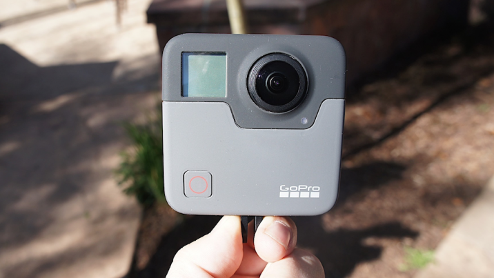 During the Mountain Games in Vail, GoPro showed off pre-production units of its Fusion 360 camera. (Image credit: AOL)
