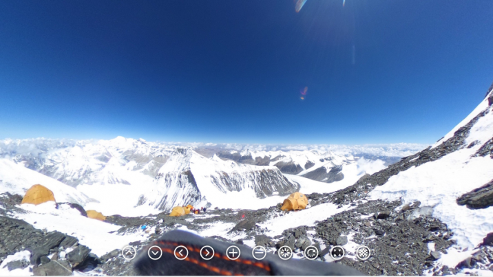 On May 21, 2017, Ricoh employee Olivier Vriesendorp reached the summit of Everest. He also captured the first 360 photos atop Everest, according to Ricoh.