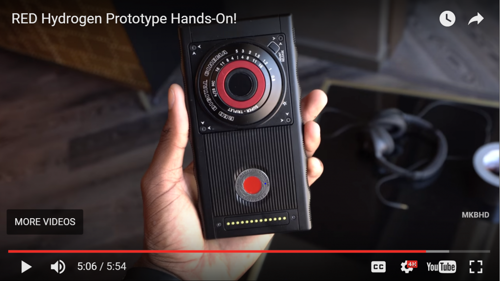RED's Hydrogen One smartphone will also have a handful of modular attachments, most of which focused on capturing video, photos and 4-view holographic images (.h4v).