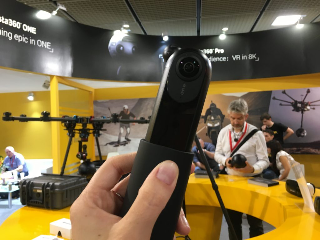 The Insta360 ONE can capture 4K 360 video as well as 1080p fixed frame video and bullet-time videos.