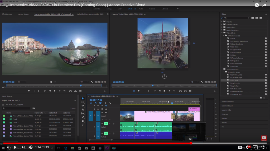 IBC 2017: Adobe's updating Premiere Pro with loads more VR-specific