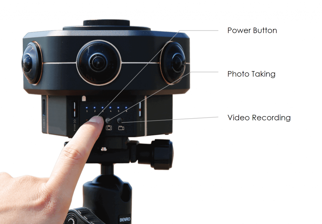 Kandao's Obsidian Go camera features three buttons on the body: power, capture photo and record video.