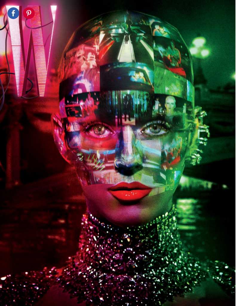 The cover of W Magazine's September issue is a trigger for an interactive AR experience through W's Beyond the Page app.