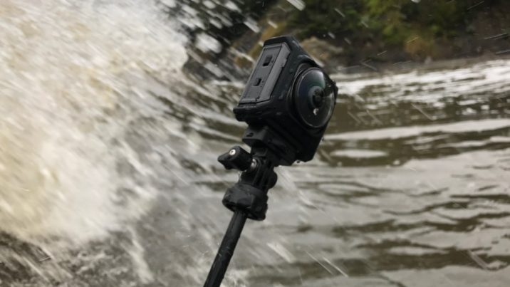 The Nikon KeyMission360 filming a scene for The Washington Post in Muir Beach, California.