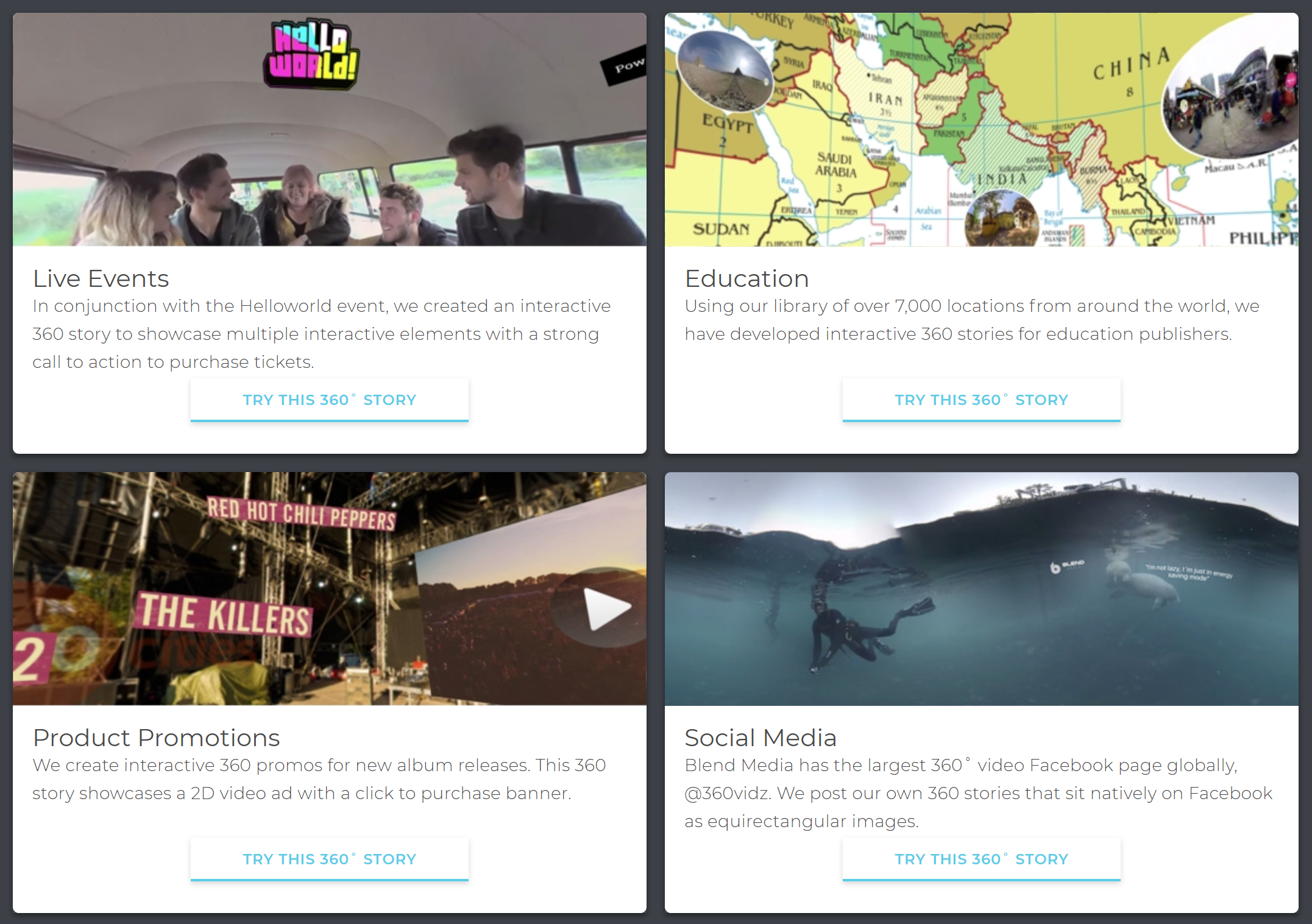 To see examples of what 360 Stories can do, visit Blend's website (linked below).