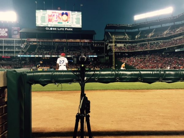 "(2015) ""We mounted 2 Sony A7'2 back to back used at a Texas Rangers baseball game. It had to be a small form factor and mobile but with really good quality imagery.""--Lance"