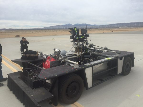"""(2016) """"We designed and mounted 5 RED cameras with super wide lenses on to a custom high speed camera car for the Eyes on Gigi BMW shoot on the Mojave Desert Airport runway.""""--Lance"""