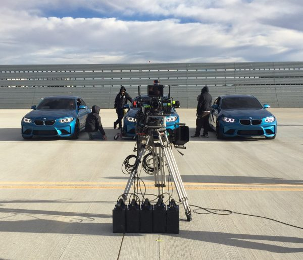 "(2016) ""Same as for the BMW shoot above, we designed this similar rig but used for stationary shots. Many challenges were overcome during this shoot as you can imagine which include power to the cameras, huge amount of data management, weight and lens damage from debris during the high speed action, synchronization, etc.""--Lance"
