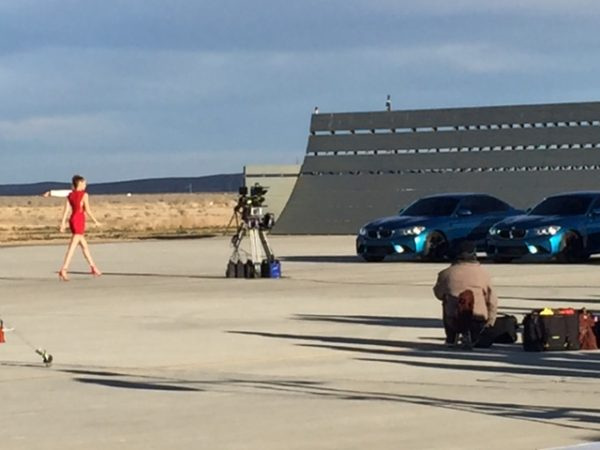 (2016) We designed and mounted 5 RED cameras with super wide lenses on to a custom high speed camera car for the Eyes on Gigi BMW shoot on the Mojave Desert Airport runway.
