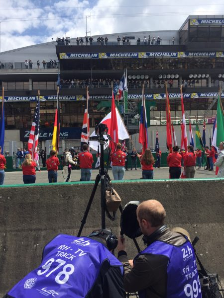 """This picture is from the 24 hours LEMans Grand Prix in France. We ran crews for 24 hours straight and used 52 cameras. Over 10TB of data were captured.""--Lance"