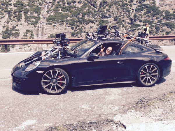 "(2015) ""We designed a built a special rig for 5 RED cameras mounted to a Porsche that was actually used for an Infinity car project. The shoot involved high speed maneuvers on violent but scenic switch back roads in Norway, Italy-Swiss Alps and Morocco. We had to bring the cameras and build the rig again at each country in very short time using an exact model vehicle we could access at each location.""--Lance"