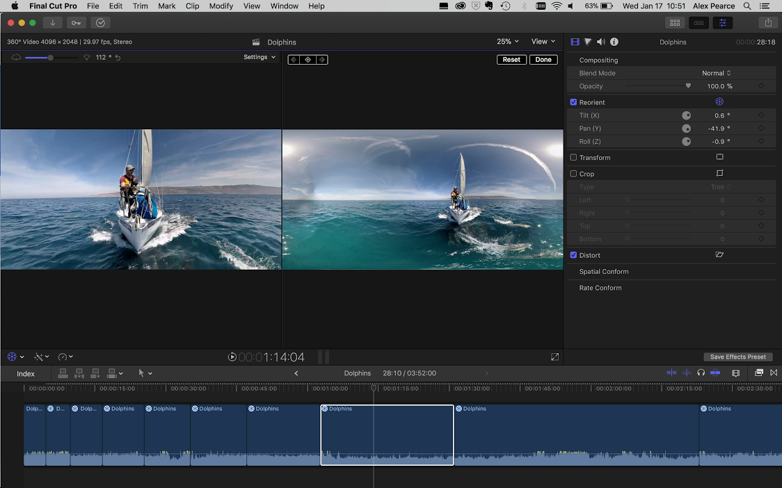 Video editing; |; Final Cut Pro · Here is a broad view of the user  interface. On the left you can see