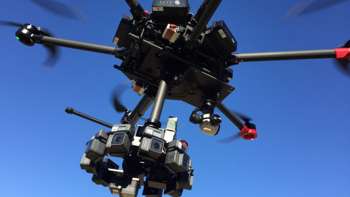 Custom 360 rig by http://www.nsgimbal.com/ on DJI Martice 600