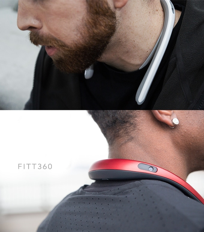 The Fitt360 wearable 360 camera was developed in cooperation with Samsung