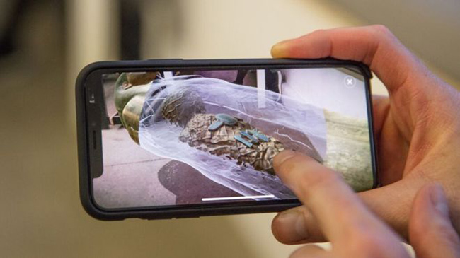 The BBC's AR app, launching soon for iOS and Android, will accompany its upcoming Civilisations series airing this spring on BBC2. Image courtesy of the BBC.