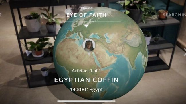 The BBC's app allows users to search geographically for artifacts to explore. Image courtesy of the BBC.