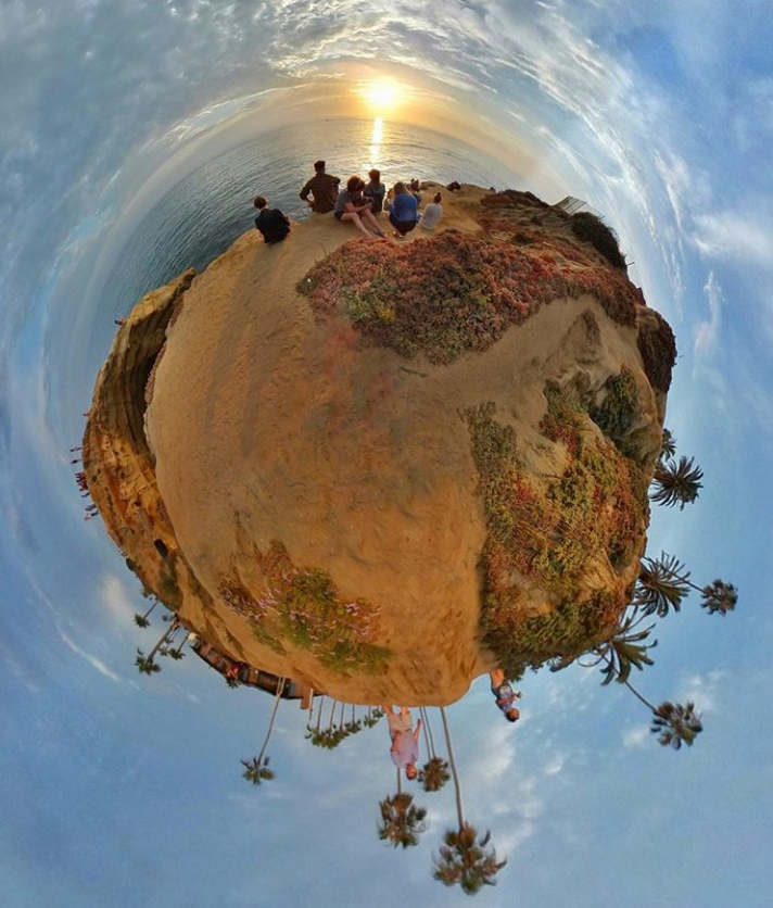 360 photo in little planet view
