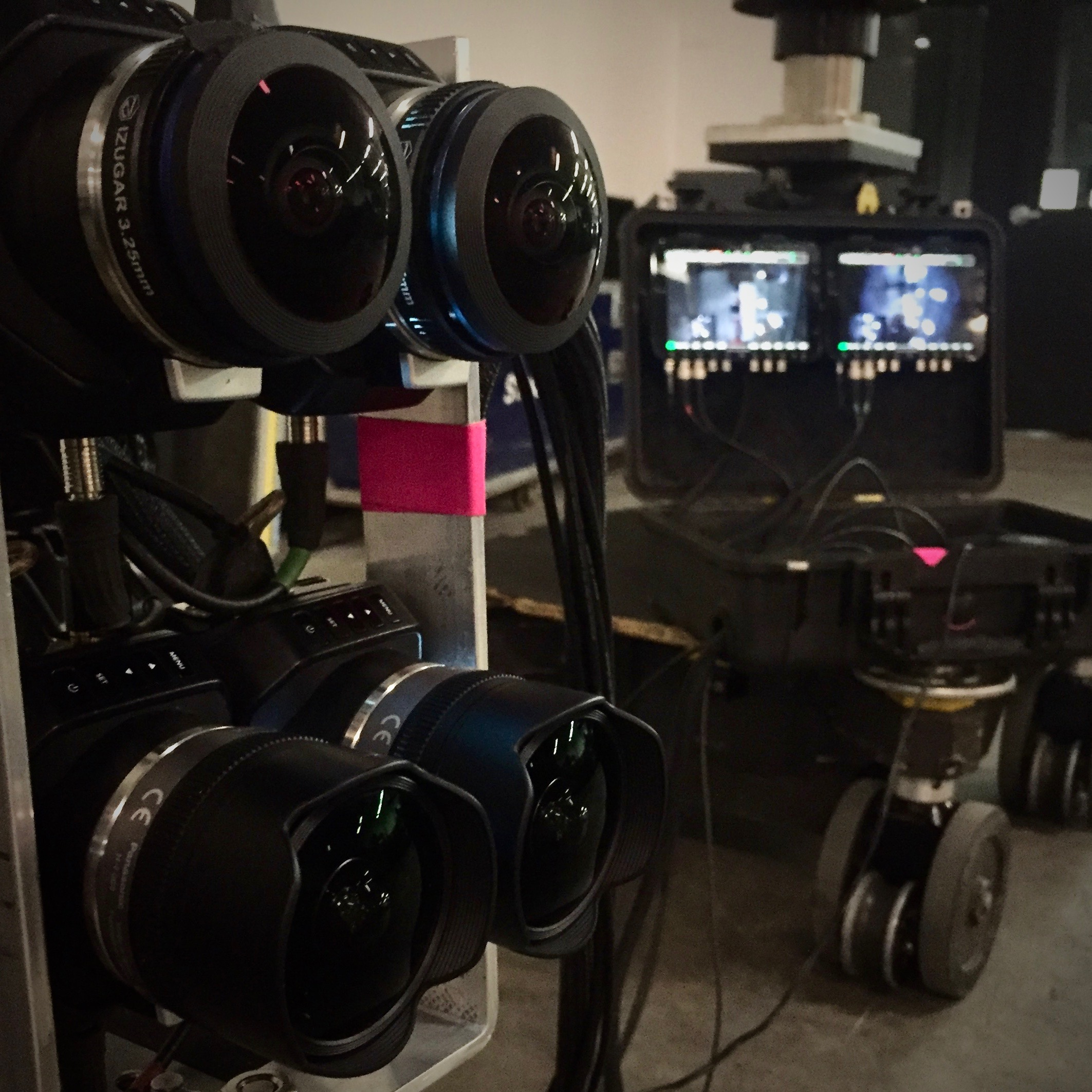 Cream VR used two Black Magic Micro Studio cameras equiped with Lumex and Izugar lenses to capture Dom.