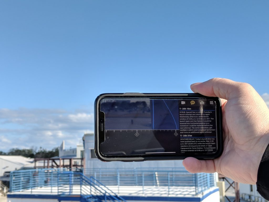 The initial plan for the AR app focused on a local audience, directing people around Cape Canaveral toward the launch.