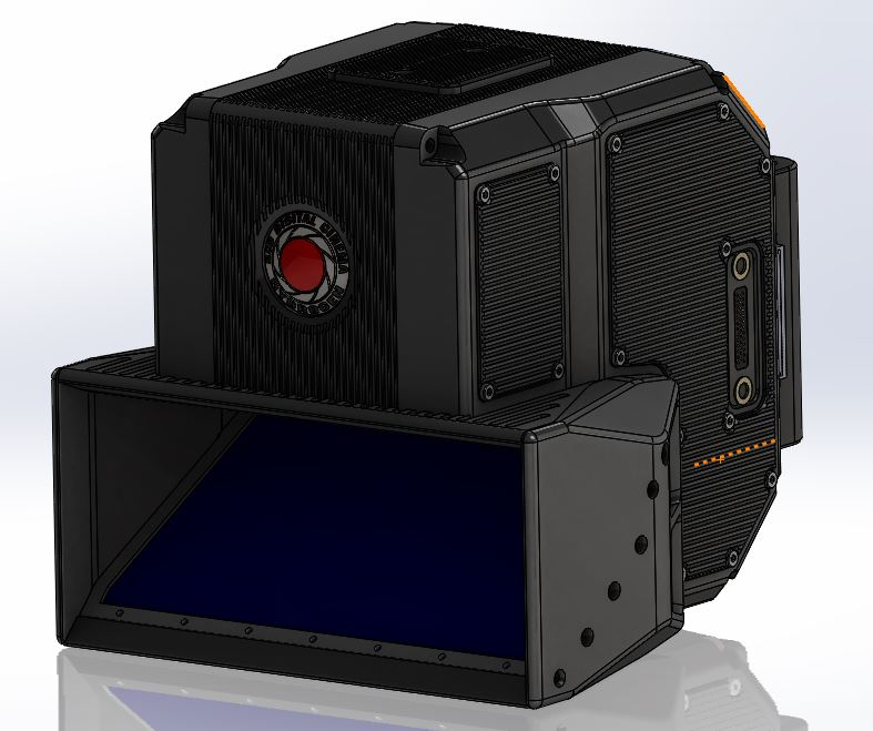 The new 8K 3D camera will look similar to RED's existing camera lineup, but its ability to display 4-view content on the Hydrogen One smartphone relies on Lucid's 3D Fusion software.