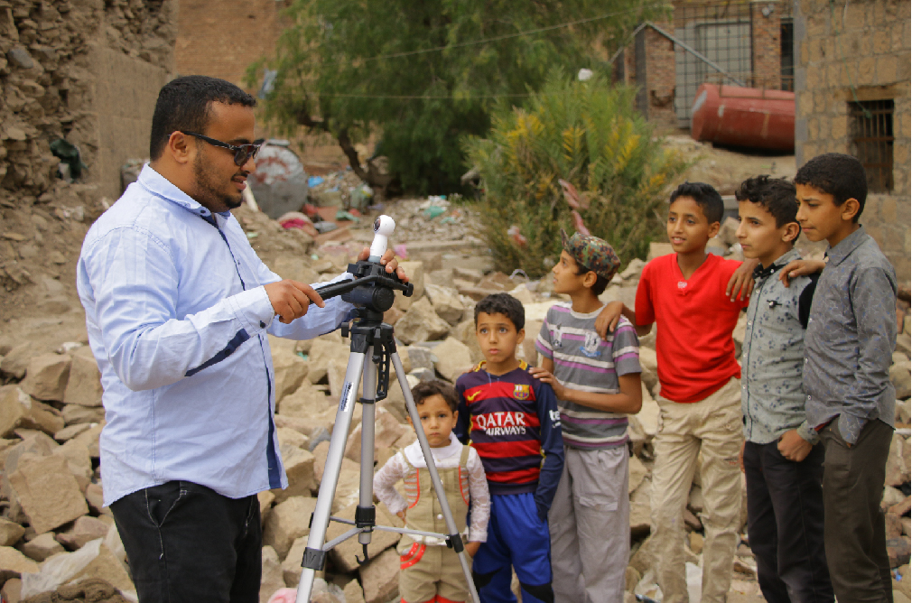 Yemen's Skies of Terror was was filmed by Yemeni journalists, Ahmad Algohbary and Manal Qaed Alwesabi.