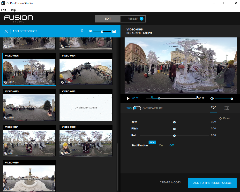 How to stitch 360 video with GoPro Fusion Studio - Immersive