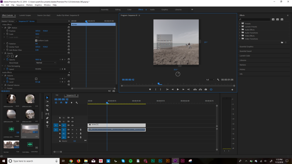 how to edit 360 video in Premiere Pro