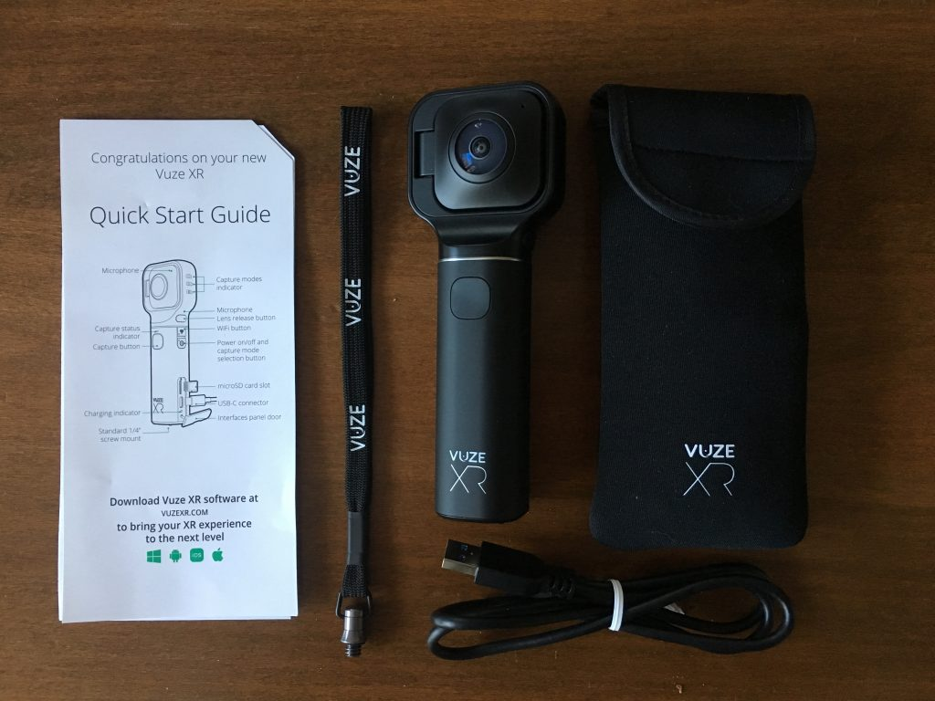 What comes with the Vuze XR camera