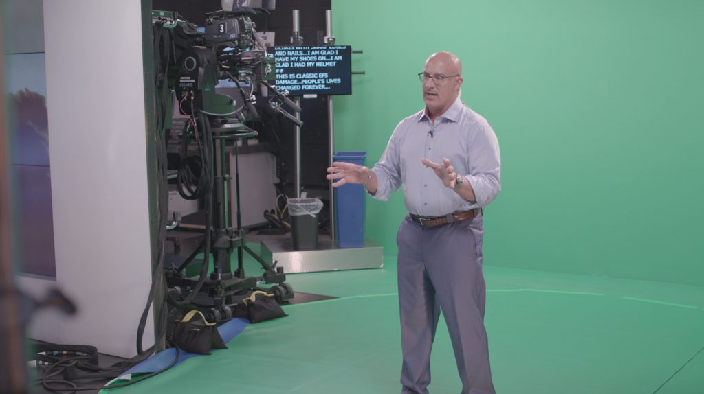 Behind the scenes of the production of The Weather Channel's first IMR experience, launched June 20, 2018, about tornadoes.